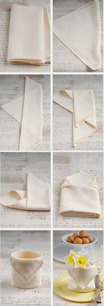 Cómo doblar servilletas: Diy