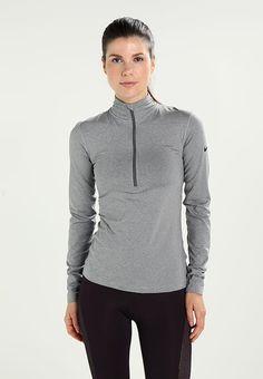 Nike Performance PRO WARM  - Treningsskjorter - dark grey heather/dark grey/black - Zalando.no