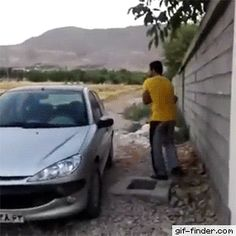 When you left the key inside your car