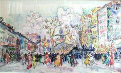 Carnival at Nice, Paul Signac
