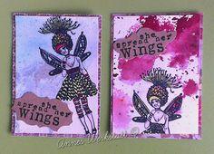 Annes Werkstatt: ATC-Serie Wings