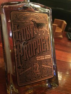 Lost Prophet - 22 year aged, 91 proof. Smells hot. Firm taste, very warm and oaky. Quick side finish. Leather aftertaste. Not bad but not my style. Very grizzled drink.