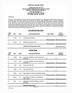 General Construction Bid Proposal Sample Construction Bids, General Construction, Proposal Sample, Proposal Writing, Proposal Templates, Project Management, Proposal Example, Proposal Writing Sample