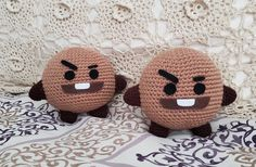 crocheted version of Shooky Quick Crochet, Love Crochet, Single Crochet, Crochet Baby, Knit Crochet, Kawaii Crochet, Kawaii Diy, Kpop Diy, Crochet Dragon