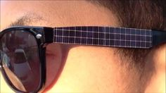 Solar-panel sunglasses recharge your phone in the evening - yes, I'd wear these.