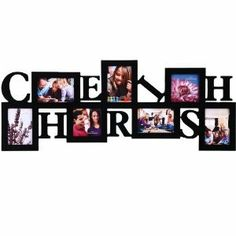 Amazon.com: 7 Opening Cherish Photo Picture Frame - 12AD016-B ADECO - Wall Art,Wall Collage,Holds Five 5x3.5 Inch, Two 4x4 Inch Photos Great...