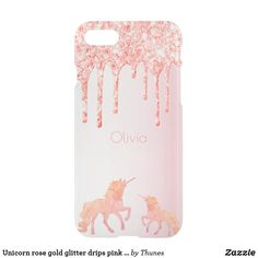 Shop Unicorn rose gold glitter drips pink girly uncommon iPhone case created by Thunes. Rose Gold Pink, Rose Gold Glitter, Iphone 8 Plus, Apple Iphone, Rose Gold Backgrounds, Gold Glitter Background, Girly, Glitter Phone Cases, Drip Painting
