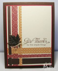 Best DIY Ideas of Handmade Thanksgiving Cards Picture 56 - Awesome Indoor & Outdoor Diy Thanksgiving Cards, Fall Cards, Holiday Cards, Thanksgiving Treats, Christmas Cards, Scrapbooking, Scrapbook Cards, Washi Tape Cards, Washi Tapes