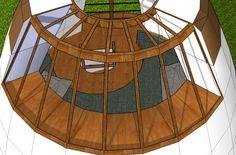 Plans, croquis, 3ds et projets - Superadobe France Small House Kits, Kit Homes, Plans, Deco, Fair Grounds, Backyard, Construction, Fire, Blue Prints