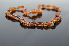 """Baltic amber necklace for babies """"Candy"""" 