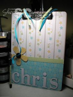 "** ""Happy Administrative Professionals Day"" Altered Clipboard  @sherrylc05"