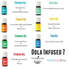 Have you heard about the Oola Infused 7 Kit? It's the newest from Young Living and it will debut on April 6th! This kit will include these oils: Family Oil, Faith Oil, Fun Oil, Finance Oil, Fitness Oil, Friends Oil, Field Oil. Life is what you make of it, and these oils will help you make it amazing!