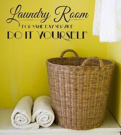 LOL Wall Decal -  Laundry Room DO IT YOURSELF - Wall vinyl sayings - Laundry Room Decor. $19.99, via Etsy.