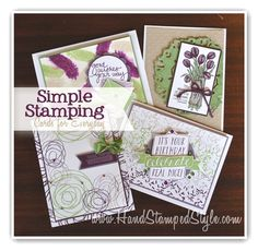 simple stamping lovely amazing you, birthday bash love is kindness, snuggles & smooches