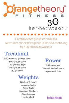 Orangetheory 3G Workout on Your Own