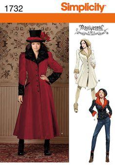 For colder weather.  Coat & Jacket Arkivestry Neo Victorian Edwadian Uncut Pattern Size 6 8 10 12 14