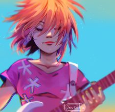 I can't get over her hair omfg Gorillaz Noodle, Gorillaz Art, Vocaloid, 2d And Noodle, Sunshine In A Bag, Jamie Hewlett, My Escape, Cool Bands, Tumblr