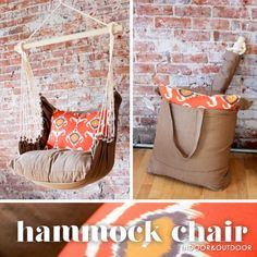 Easy to reproduce DIY style? Indoor and Outdoor Hammock Chair - Home Ec