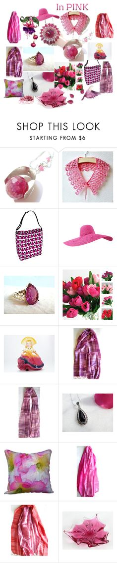 """In Pink"" by anna-recycle ❤ liked on Polyvore featuring Scialle, modern, rustic and vintage"