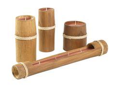 Bamboo candles from Kultura