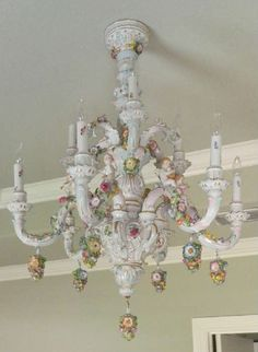 Authentic capodimonte porcelain chandelier can this be authentic capodimonte porcelain chandelier can this be shabby chic vintage roccoco rustic english cottage couture rustic country aloadofball Images