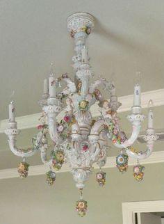 Found on EstateSales.NET: Antique Dresden chandelier