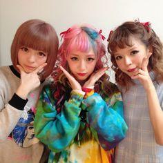 Kyary Pamyu Pamyu with Eva Cheung and um.. I dont know the other girls name >.<