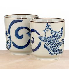 koi tea cups
