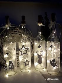 Christmas Decorations Diy For Kids, Christmas Trees For Kids, Silver Christmas Tree, Easy Christmas Crafts, Christmas Store, Christmas Tree Toppers, Christian Christmas Crafts, Christmas Wine Bottles, Glass Bottle Crafts