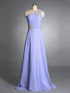 A Line Affordable Chiffon Lavender prom dress with Rhinestones Evening/Bridesmaid/Formal Dress 2013 New prom dresses long evening gowns$128.00