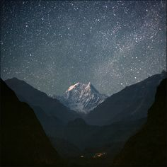 Kali Gandaki Valley with Nilgiri Mountain, Nepal. Beautiful.