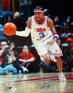Allen Iverson Autographed 16x20 Photo Philadelphia 76ers All Star Game PSA/DNA Stock #102513