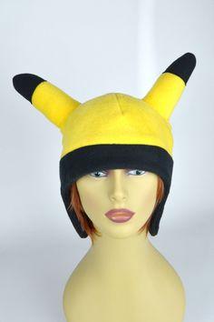 Pikachu Pokemon Beanie  Pikachu Pokemon Hat  by AnimeHatmania