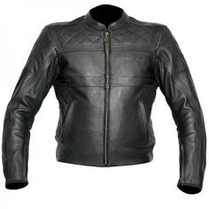 RST Retro Leather Jacket Black