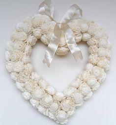 cream rose heart wreath Girl Nursery, Nursery Ideas, Funeral Bouquet, Heart Wreath, Cream Roses, Wreath Ideas, Burlap Wreath, Flower Arrangements, Hearts