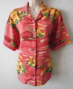 TOMMY BAHAMA .... Ladies, be sure to check out this Gorgeous Tommy Bahama women's Hawaiian shirt, just perfect for that winter cruise you're planning! As always, we offer FREE shipping to U.S. customers, and NO sales tax! Please visit J and S Menswear for more great deals on women's and men's fashions!