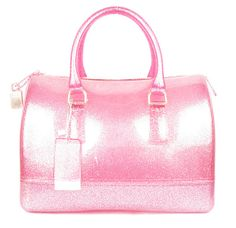 Pink Glitter Jelly Candy Silicon Handbag by SparklingSinBoutique, $60.00