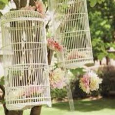Vintage bird cage decor...I love it!!