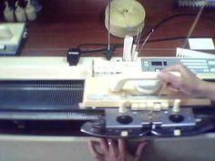 Основы вязания ажурной кареткой LC2 для Silver Reed SK280 - YouTube