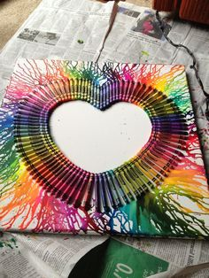 melting crayon heart <3 made by me :)