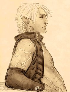 art-by-g:  Sullen Pirate AU, Fenris.