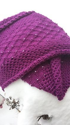 """""""Fish Net and Diamonds"""" cowl.  Worsted weight.  Beads.  630 yards."""