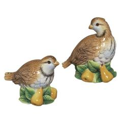 Andrea by Sadek Porcelain Partridge & Pear Salt & Pepper Sha by Andrea by Sadek. $12.99. The Andrea by Sadek Porcelain Partridge & Pear Salt & Pepper Shakers is a mid-year 2011 addition to the Andrea by Sadek collection.
