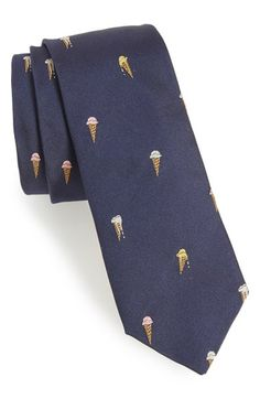 Ice Cream Cone Silk Tie by Paul Smith