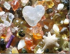 This is what the sand at he bottom of the ocean looks like when it has been magnified 250 times.