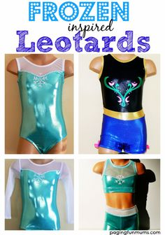 Frozen Inspired Leotards...these are just too adorable for words!