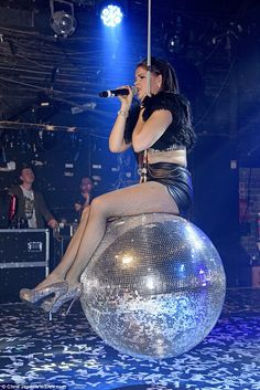 Saara Aalto, who finished second on the talent hunt, is ensuring her legacy lives on as she put on a show-stopping display during a performance at G-A-Y in London on Saturday night Disco Ball, Disco Disco, 29 Years Old, Leather Shorts, Show, Miley Cyrus, Put On, Celebs, Singer