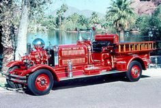 """1931. Ahrens Fox.  Model N The """"Cadillac"""" of Fire Apparatus during that time period. by: National Historical Fire Foundation."""