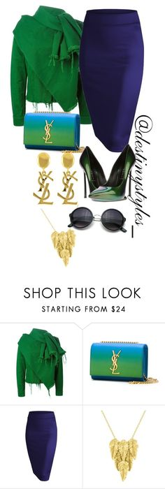 """""""Untitled #115"""" by iamdestinnny ❤ liked on Polyvore featuring Marques'Almeida, Yves Saint Laurent, Casadei and London Road"""