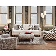 "Furniture of America 86"" Nouvel Contemporary Sofa"